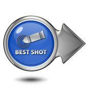 Best shot circular icon on white background — Stockfoto