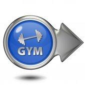 Gym  circular icon on white background — ストック写真