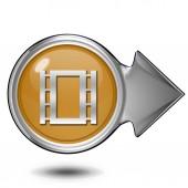 Film circular icon on white background — Stock Photo