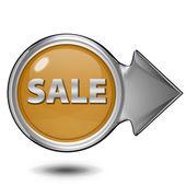Verkauf kreisförmige Symbol auf weißem Hintergrund — Stockfoto