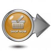 Comprar ahora circular icono de fondo blanco — Foto de Stock
