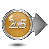 2015  circular icon on white background — Photo