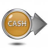 Cash circular icon on white background — Stock Photo