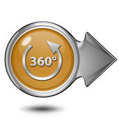 360 degrees circular icon on white background — Stock Photo