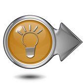 白色背景上的灯泡圆圈图标 — 图库照片