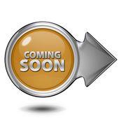 Coming soon circular icon on white background — Stockfoto
