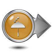 Regn cirkulär ikonen på vit bakgrund — Stockfoto