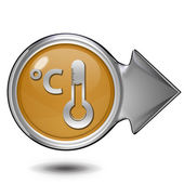Celsius circular icon on white background — Stock Photo