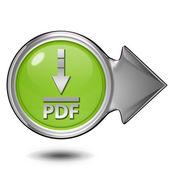 Pdf ke stažení kulatá ikona na bílém pozadí — Stock fotografie