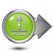 Upload circular icon on white background — Stock Photo