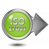 Iso 27001 circular icon on white background — Stock Photo