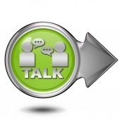 Talk circular icon on white background — Stock Photo