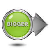 Bigger circular icon on white background — Stock Photo