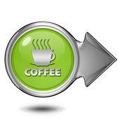 Coffee circular icon on white background — Stock Photo