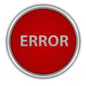 Error circular icon on white background — Stock Photo