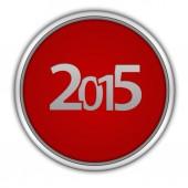 2015  circular icon on white background — ストック写真