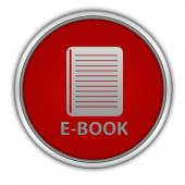 E-book circular icon on white background — 图库照片
