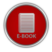 E-book circular icon on white background — Stock fotografie