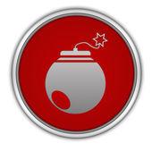 Bomb circular icon on white background — Foto de Stock