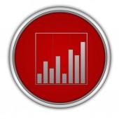 Data analysis circular icon on white background — Stock Photo
