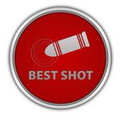 Best shot circular icon on white background — Stock Photo