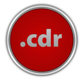 .cdr circular icon on white background — Foto Stock