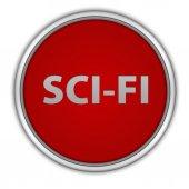 Scifi icona circolare su priorità bassa bianca — Foto Stock