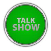 Talk Show circular icon on white background — Stock Photo