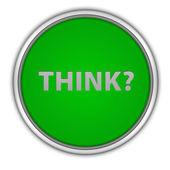 Think circular icon on white background — Foto de Stock