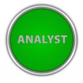 Analyst circular icon on white background — Stock fotografie