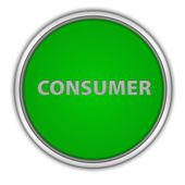 Consumer circular icon on white background — Stock Photo