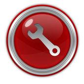 Icono circular herramientas sobre fondo blanco — Foto de Stock