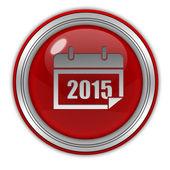 Okrągła ikona kalendarz na białym tle — Zdjęcie stockowe