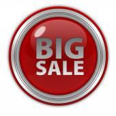 Stor försäljning cirkulär ikonen på vit bakgrund — Stockfoto