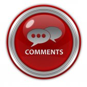 Comments now circular icon on white background — Stockfoto