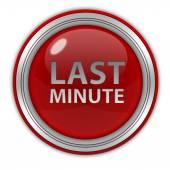 Sista minuten cirkulär ikonen på vit bakgrund — Stockfoto