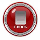 Okrągła ikona E-Książka na białym tle — Zdjęcie stockowe