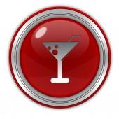 Drink circular icon on white background — Stock Photo