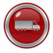 Truck circular icon on white background — ストック写真