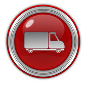 Truck circular icon on white background — Stockfoto