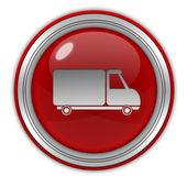 Truck circular icon on white background — Fotografia Stock