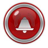 Icono circular de alarma sobre fondo blanco — Foto de Stock