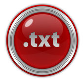 .txt cirkulär ikonen på vit bakgrund — Stockfoto