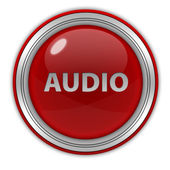 Audio circular icon on white background — Stock Photo