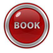 Book circular icon on white background — Foto de Stock