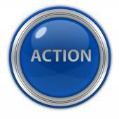 Action circular icon on white background — Stock Photo