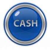 Ícone circular dinheiro no fundo branco — Fotografia Stock