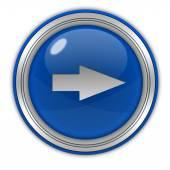 Right Arrow circular icon on white background — Stock Photo