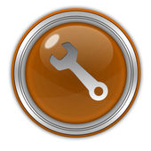De circulaire pictogram hulpprogramma's op witte achtergrond — Stockfoto