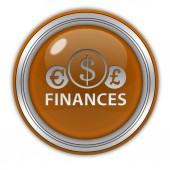 Finance circular icon on white background — Fotografia Stock